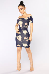 Take The Floral Dress - Navy Floral