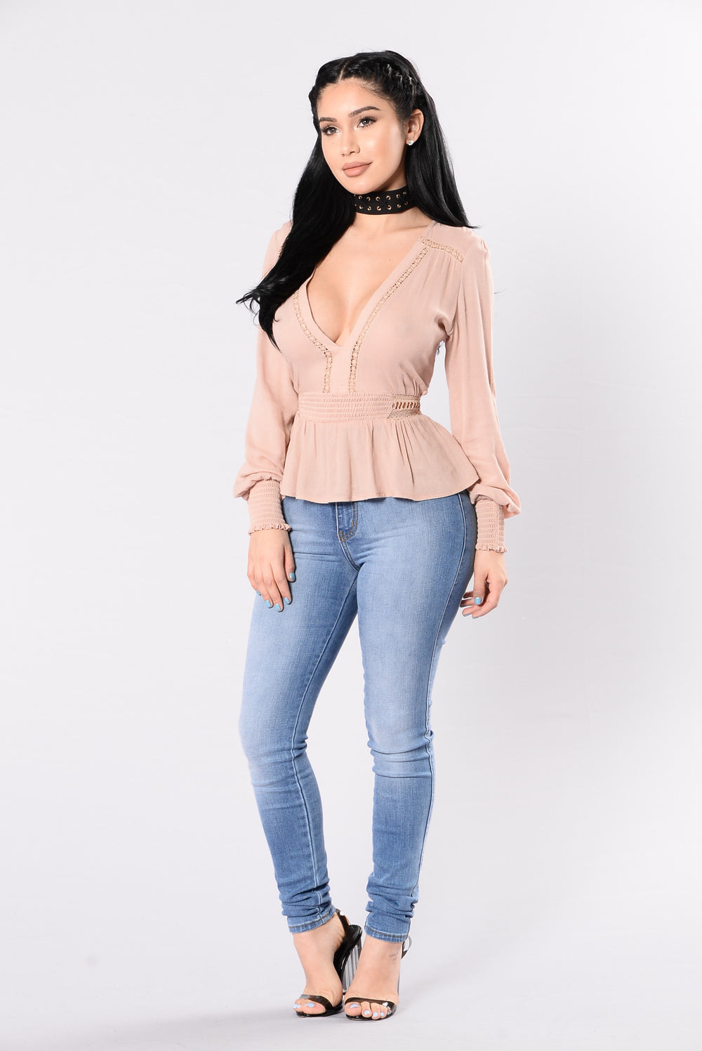 Sweet Talk Me Top - Dusty Blush