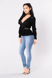 Sweet Talk Me Top - Black