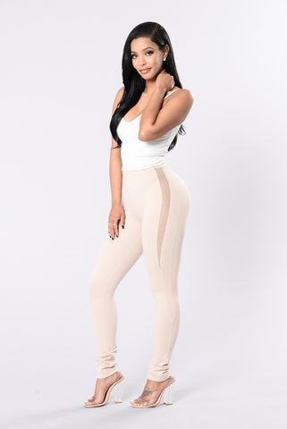 Feel It Coming Leggings - Nude