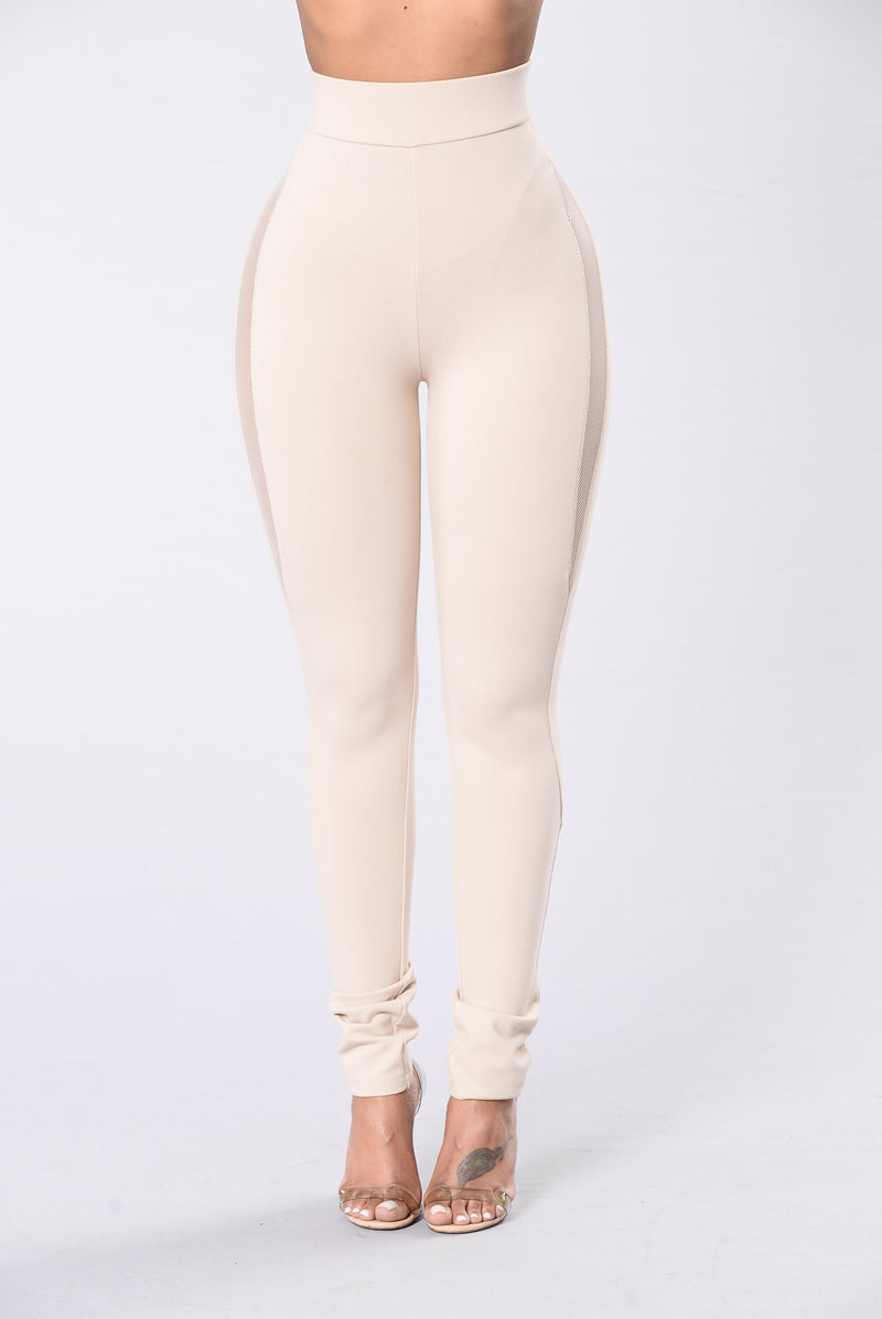 Nude color leggings for business casual style
