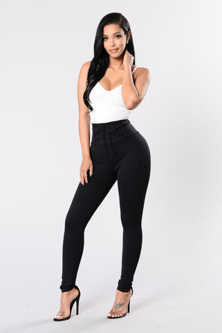 Won't Settle For No Less Pants - Black