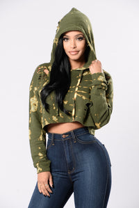 Fly In Dye Top - Olive
