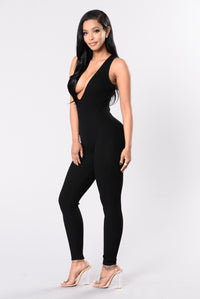 Need A New Bae Jumpsuit - Black