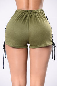 What's Done Is Done Shorts - Olive/Black