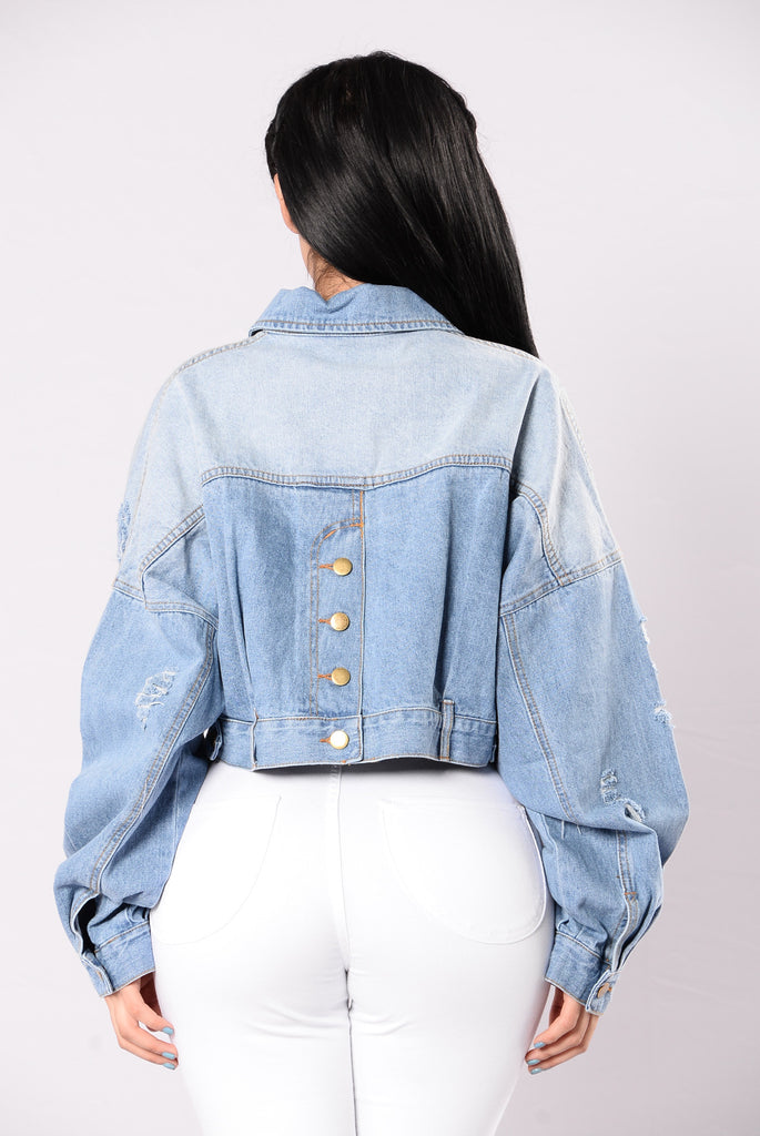 Born For This Jacket - Light Denim