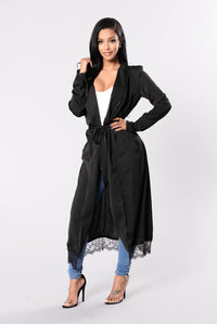 Breakfast In Bed Duster Jacket - Black