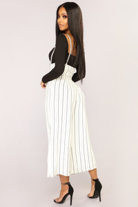 Thaleia Pants - White/Black