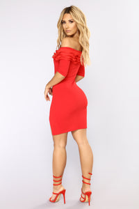 Bad Together Mini Dress - Red