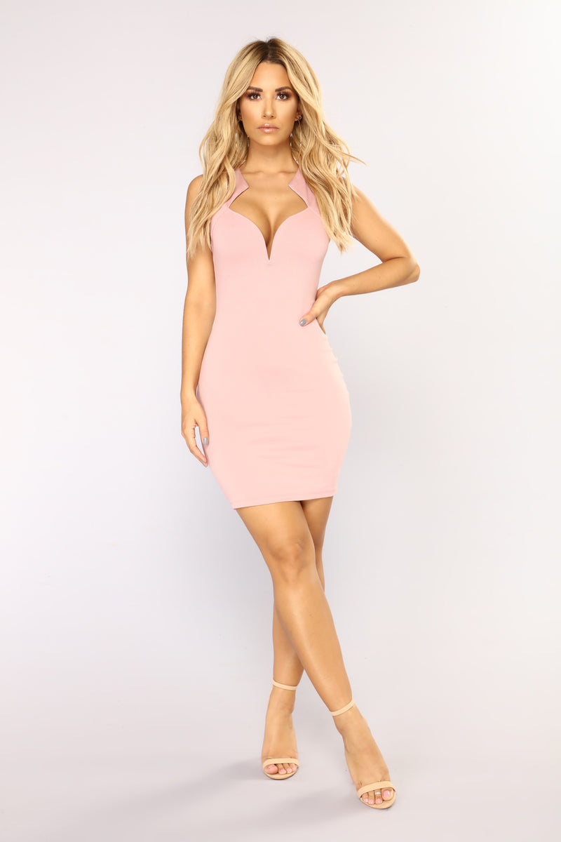 The One That Got Away Dress - Mauve