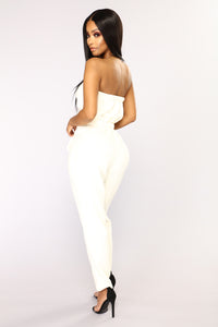 Taking Control Tube Jumpsuit - Ivory