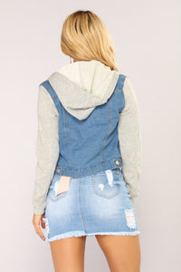 Christine Denim Jacket - Medium Wash