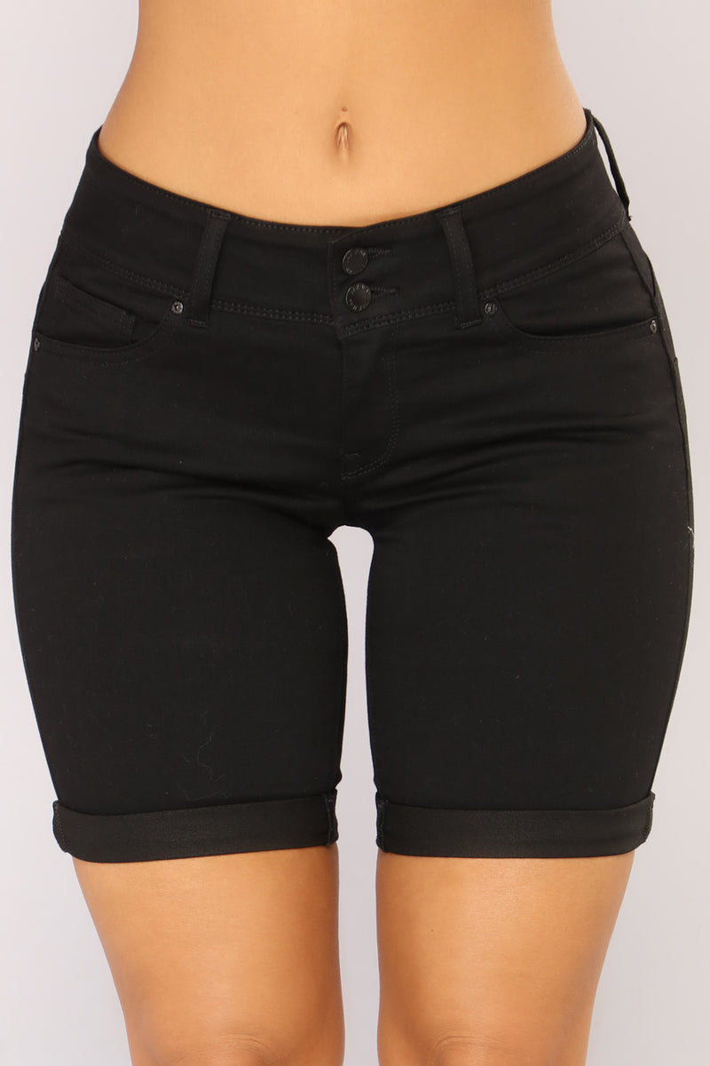 Catalina Booty Lifting Bermuda Shorts - Black