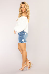 Love Me Now Denim Skirt - Medium Wash