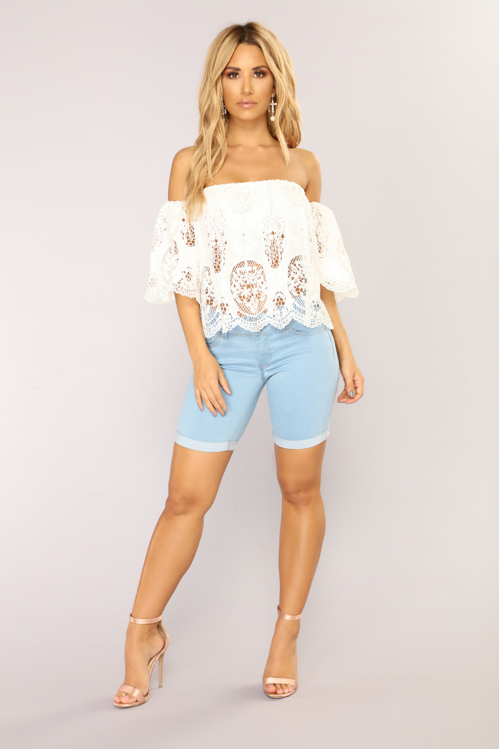 Catalina Booty Lifting Bermuda Shorts - Light Wash