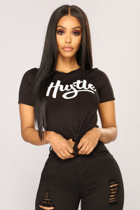 All About That Hustle Top - Black