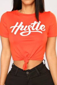 All About That Hustle Top - Red