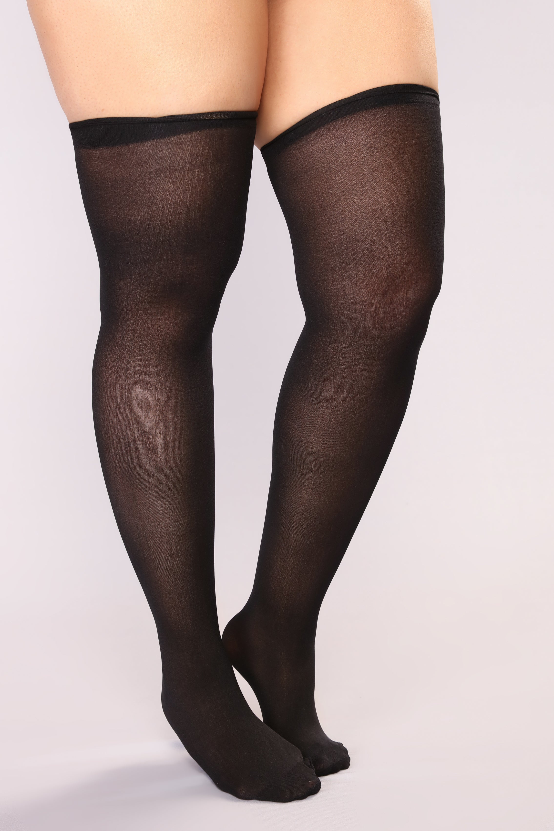 d886c1df70c Feel Your Way Thigh High Stockings - Black