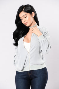 One Thing On My Mind Jacket - Dusty Blue
