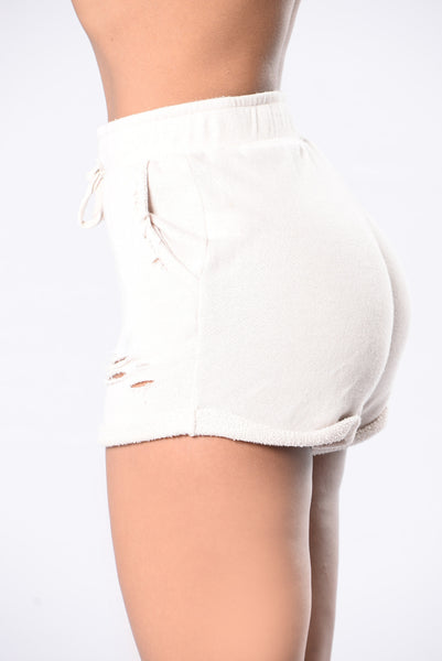 Calling All Ladies Shorts - Oatmeal
