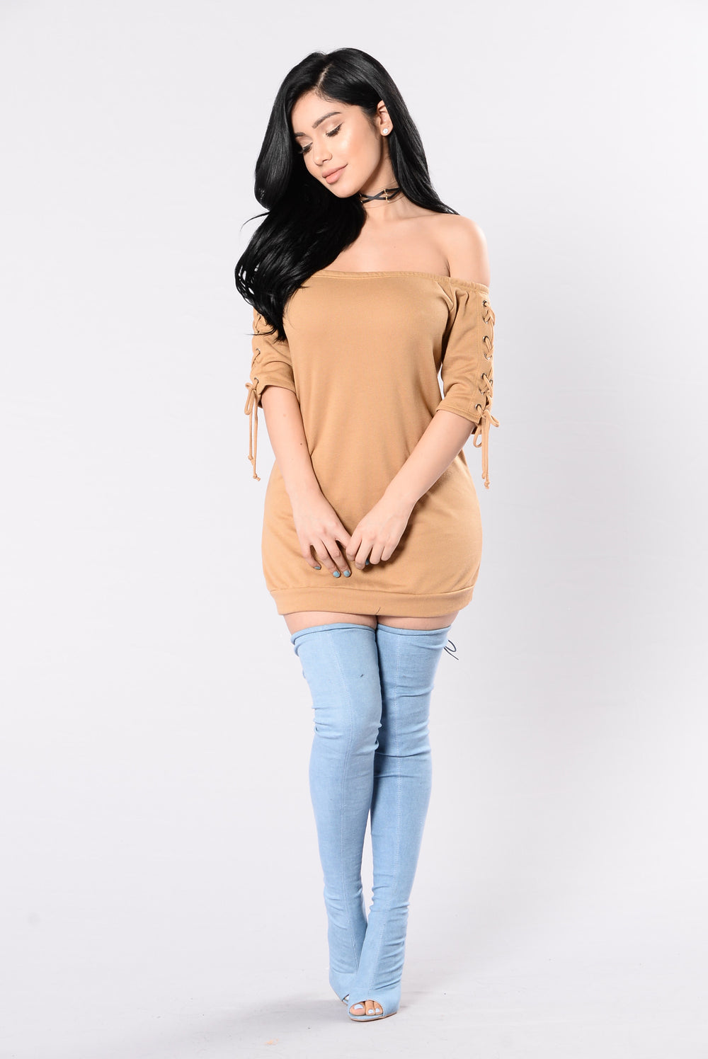 Unravel Me Dress - Camel