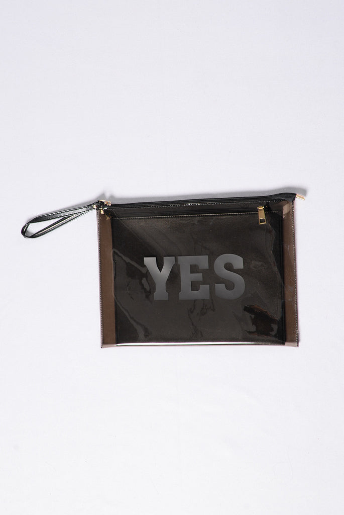Make Up Your Mind Clutch - Black