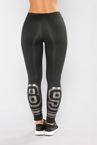 Team Player Active Crop Leggings - Black Multi