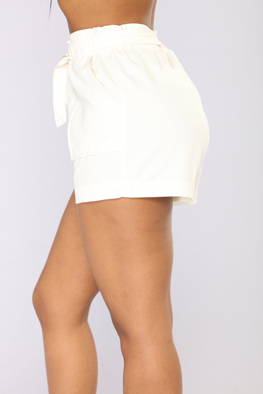 Out For The Day Linen Shorts - Ivory
