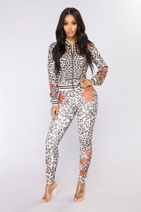 On Lock Down Lounge Set - Leopard