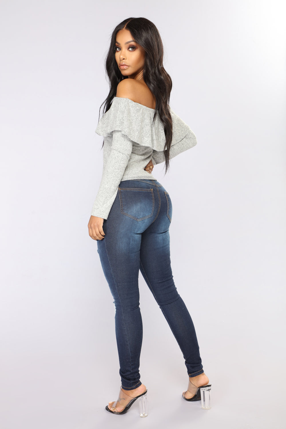 Tickle Distressed Skinny Jeans - Dark Denim
