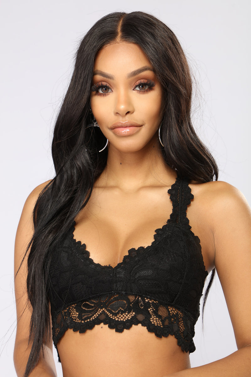 On Your Mark Bralette - Black