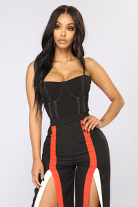 Frame Of Mind Corset Bodysuit - Black