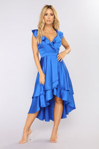 Whitney Midi Dress - Royal