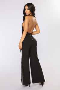 Nick Of Time Snap Jumpsuit - Black