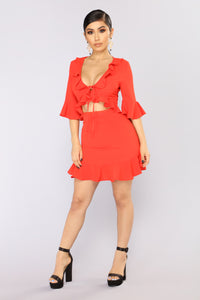 This Love Is Fine Mini Dress - Red