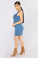 Denim Darlyn Mini Dress - Medium