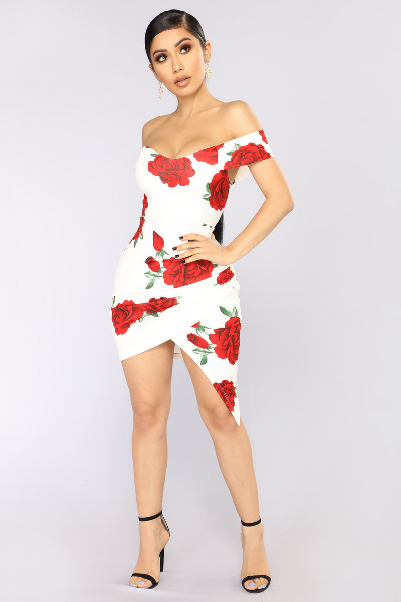 Wine And Dine Midi Dress - White