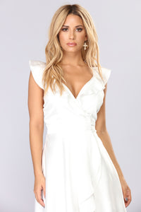 Whitney Midi Dress - White