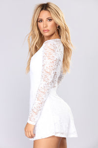 Moments Last Forever Lace Romper - Ivory