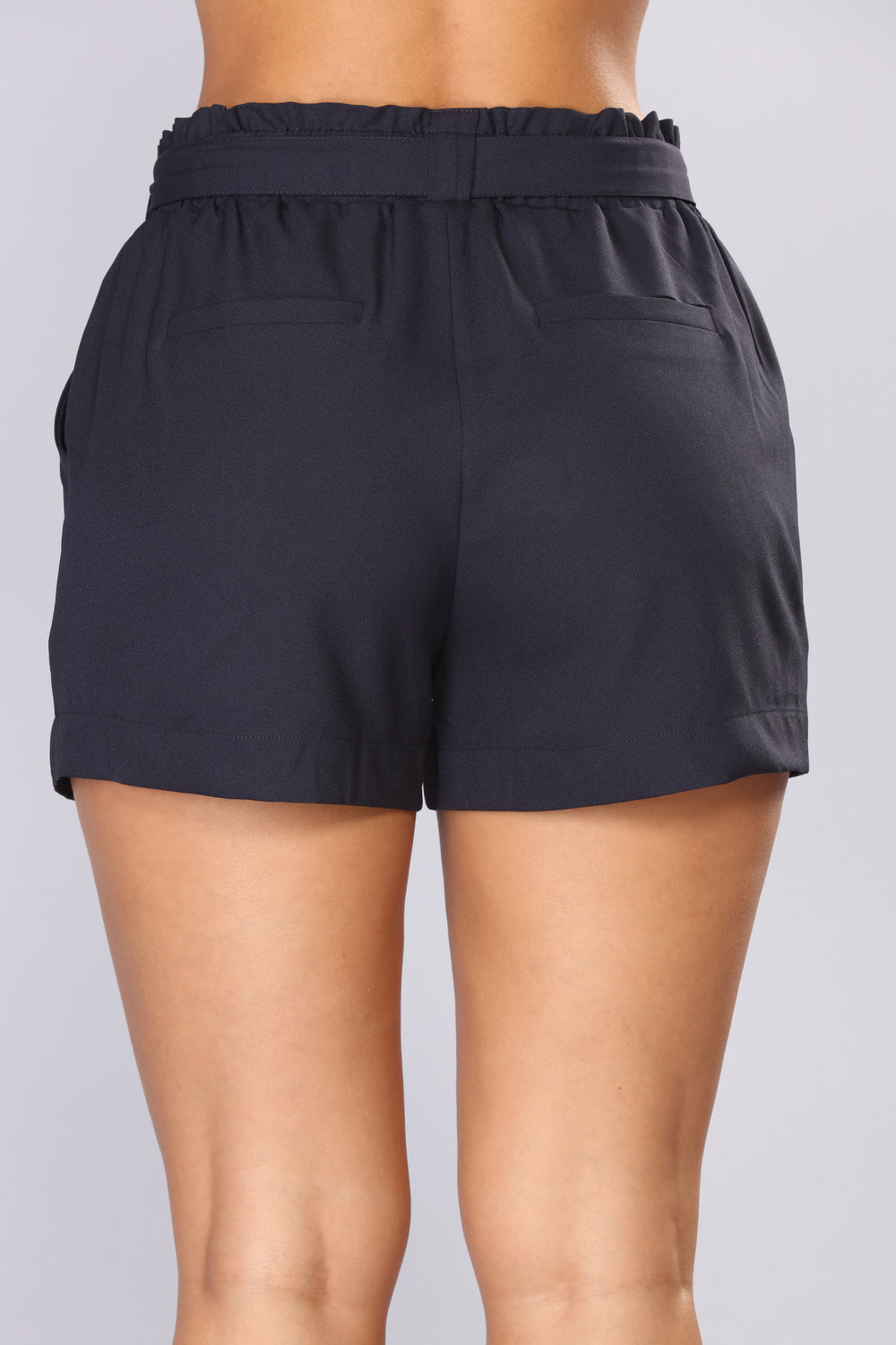Out For The Day Linen Shorts - Navy