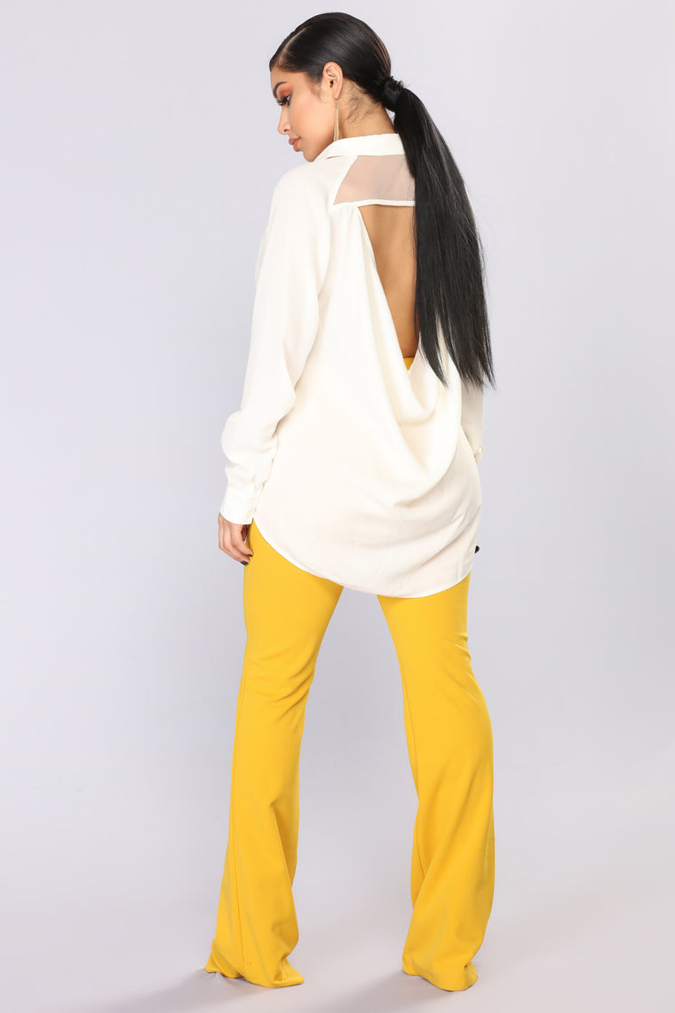 Doves In The Wind Long Sleeve Top - Cream