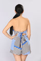 Pipe Dream Stripe Romper - Ivory/Royal