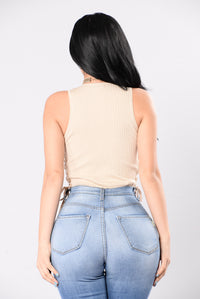 Been About You Bodysuit - Taupe
