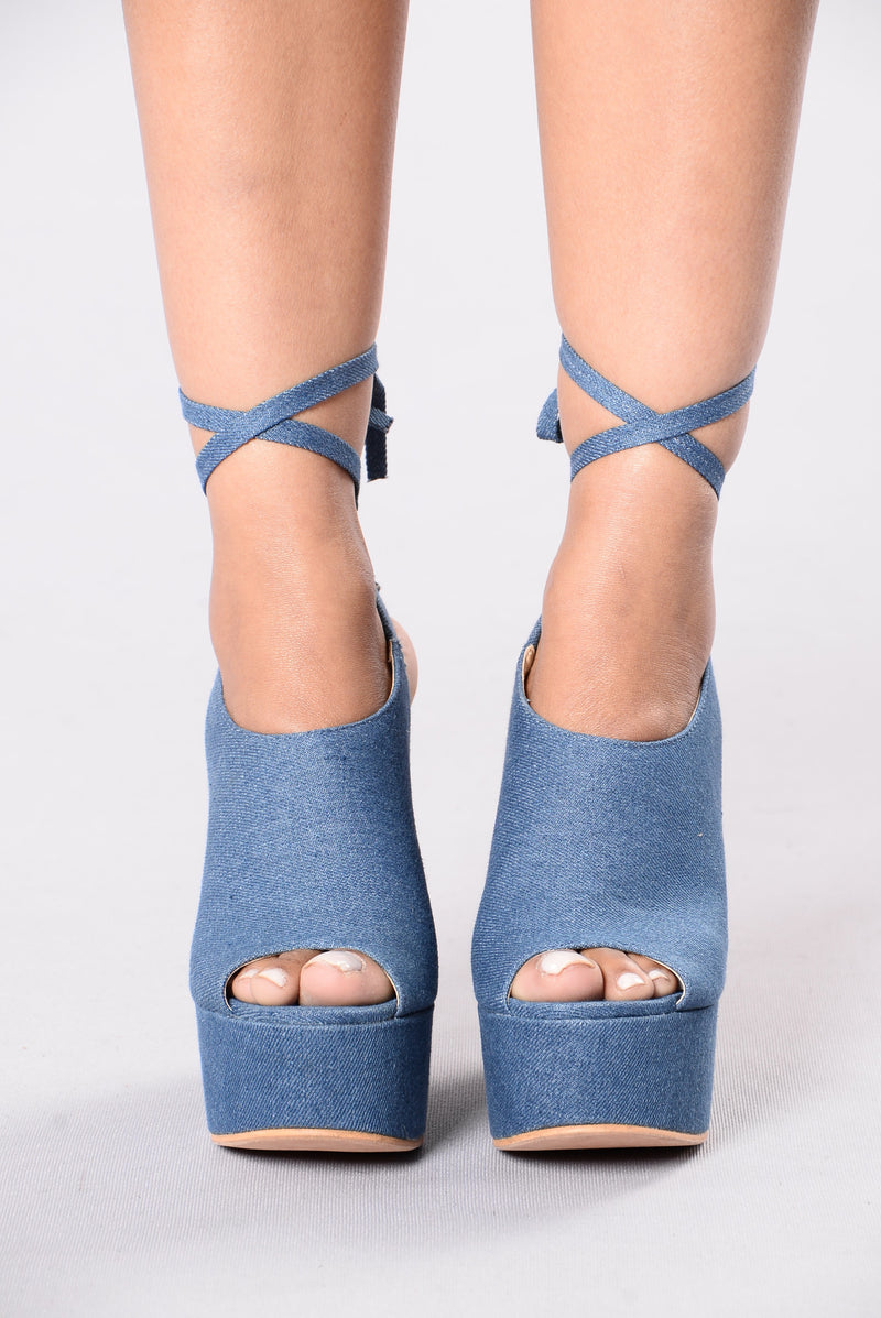 Ankle Angles Heel - Denim