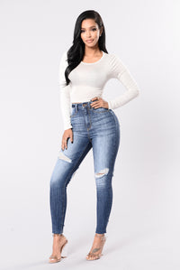 Get Me Body Jeans - Medium Blue Angle 6