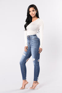Get Me Body Jeans - Medium Blue Angle 5