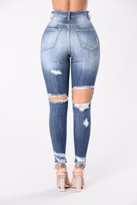 Get Me Body Jeans - Medium Blue Angle 3