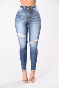 Get Me Body Jeans - Medium Blue Angle 1