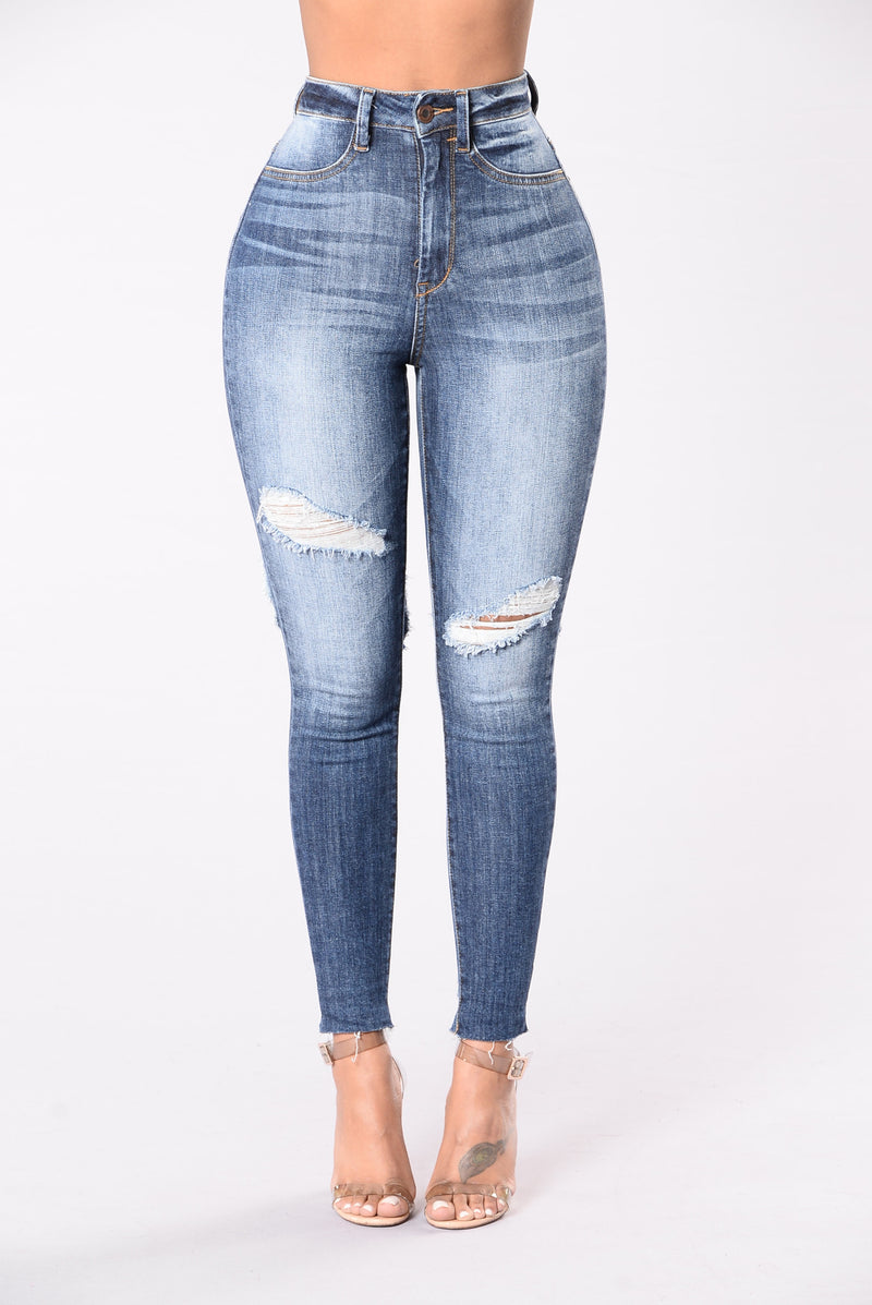 Get Me Body Jeans - Medium Blue