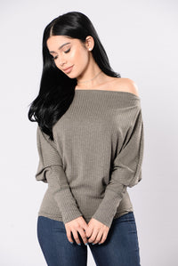Soft Spoken Top - Military